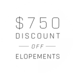 $750 Off Elopements